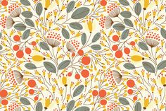 Ad: Floral Pattern by Maria Galybina on Creative Market. - Ad: Floral Pattern by Maria Galybina on Creative Market. Floral Pattern Wallpaper, Floral Pattern Vector, Floral Patterns, Graphic Patterns, Textile Patterns, Christmas Trends, Thanks Card, Computer Wallpaper, Macbook Wallpaper