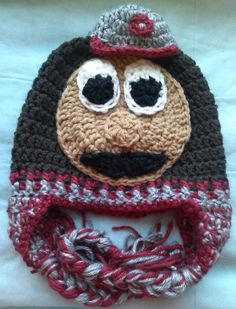 74289262371 Brutus the Buckeye Crochet Hat... Don t know why anyone would actually