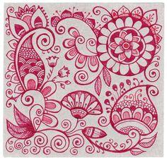 ♡♡♡♡ pink doodles, paisley