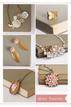 love the idea of making jewelery from a mixture of pieces.