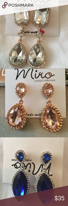 Affordable stylish jewelry Very elegant statement jewelry.  Earings/bracelet/ring-$25 Necklace set -$35 Jewelry Necklaces
