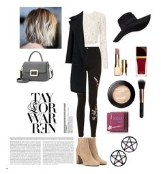 """""""Outfit 1"""" by cathcathy ❤ liked on Polyvore featuring Topshop, A.L.C., Jil Sander, Yves Saint Laurent, San Diego Hat Co., Clarins, Tom Ford, M.O.T.D Cosmetics, Hoola and Marina Fini"""