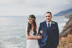 Bride and Groom in Big Sur California