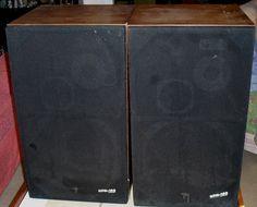 Wonderful set of Vintage PIONEER Hpm 100 Speakers by JUNKMANSGAL