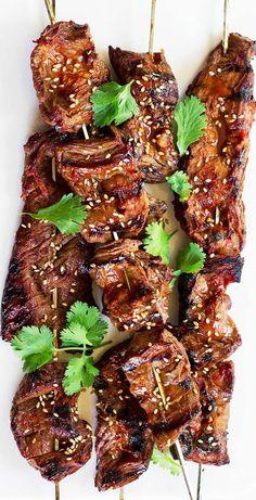 Steak Skewers, Beef Kabobs, Chicken Skewers, Kebabs, Grilled Skewers, Shrimp Kabobs, Fruit Skewers, Pineapple Kabobs, Marinade Chicken