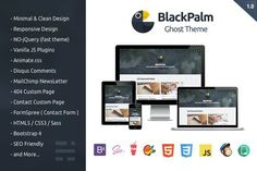 cool BlackPalm - Ghost Theme  CreativeWork247 - Fonts, Graphics, Themes, Te...