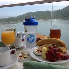 Our favorite way to start our day in Labadee.