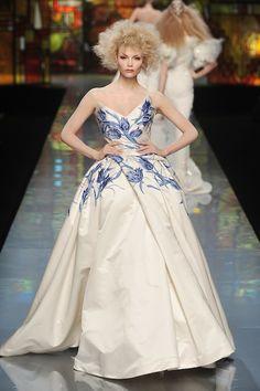 Christian Dior Spring 2009 Couture Delft Porcelain Dress