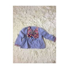 Zara blouse jacket blazer tassel embroidery ethno blue S NEW | eBay ❤ liked on Polyvore featuring outerwear, jackets, blazers, blue blazer, blue jackets, embroidered blazer, embroidery jackets and blazer jacket