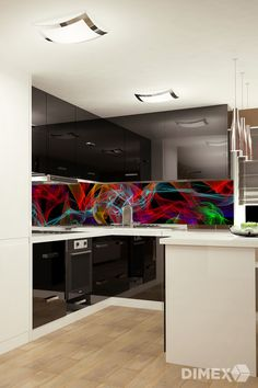 Abstrakt - kuchynská fototapeta   DIMEX Cabinet, Storage, Furniture, Home Decor, Abstract, Clothes Stand, Purse Storage, Decoration Home, Room Decor