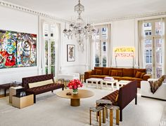 Neon art. Tour the Art-Filled Pacific Heights Home of Norah and Norman Stone Photos | Architectural Digest