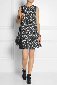 60s Swing | Lookbook | Proenza Schouler|Printed silk-georgette mini dress|NET-A-PORTER.COM