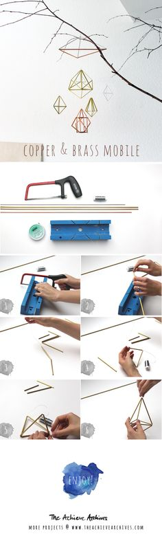 DIY Mobile with copper and brass   www.thechievearchives.com