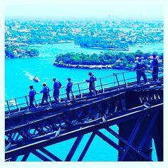 T O P  O F  T H E  W O R L D......... A bucketlist moment.  Climbing the Iconic Sydney Harbour Bridge.  #bucketlistliving #topoftheworld #mysydney  #repost@Sydney