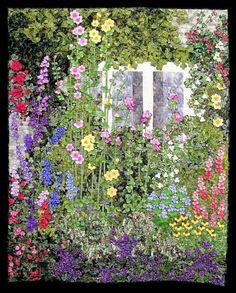 In British Garden, quiltmaker Anna Maria Schipper Vermeiren of Haaften, The Netherlands.