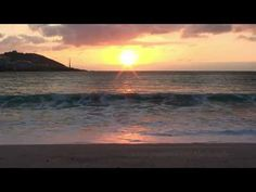 Sounds Of Atlantic Ocean - Sunset Of Orzan Beach, A Coruna - Relaxation Video