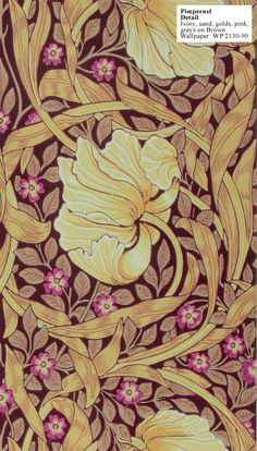 Pimpernel wallpaper by William Morris
