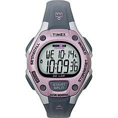 @Overstock - Sporty and fashionable collide in this Timex Ironman 30 Lap Performance watch. The timepiece features a durable resin strap and dependable water resistance. http://www.overstock.com/Jewelry-Watches/Timex-Womens-Ironman-30-Lap-Performance-Grey-Pink-Watch/5141577/product.html?CID=214117 $28.06