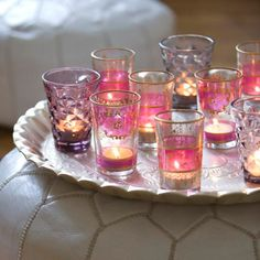 Pink Moroccan Tea Glasses ♥