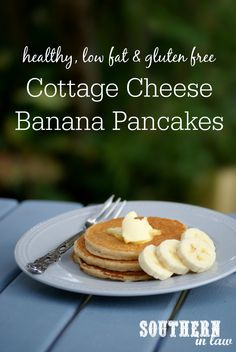 This thick and fluffy Healthy Banana Pancakes Recipe is SO delicious and so easy to make. They are gluten free, low fat, sugar free, high protein and makes a small batch that is perfect for lazy weekend breakfasts.
