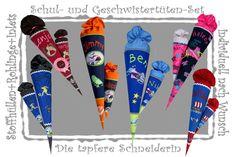 Schultüte + Geschwistertüte im Komplett-Set von Die tapfere Schneiderin, handmade with love ... by Viola auf DaWanda.com