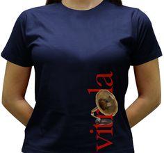 Camiseta Vitrola - Baby-look