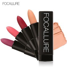 Focallure Matte Lipstick Beauty Waterproof Lips Stick Makeup Labiales Lipstick Red Candy Vitamin E Cosmetic Labiales Matte Batom