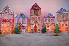 SALE 15 PERCENT OFF Christmas Village 5 unic by ScandinavianToys, $20.50