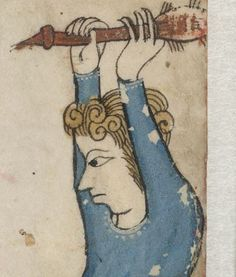 Detail from The Luttrell Psalter, British Library Add MS 42130 (medieval manuscript,1325-1340), f1r