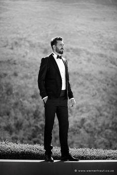 Groom portraits on wedding day