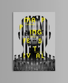 /Mapping 2013 by Jérémy Tourvieille, via Behance Graphic Design Posters, Graphic Design Typography, Graphic Design Illustration, Graphic Design Inspiration, Web Design, Book Design, Cover Design, Layout Design, Posters Conception Graphique