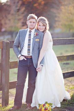 Polo Horse Farm Wedding, GA...love the jeans & hippie vibe                                                                                                                                                     More