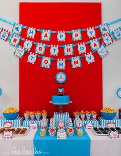 Choo Choo Train Thomas and Friends inspired Birthday Party Printable DIY ♥ Thomas Birthday Parties, Thomas The Train Birthday Party, Trains Birthday Party, Train Party, Friend Birthday, Boy Birthday, Birthday Ideas, Thomas And Friends, Choo