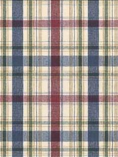 BLUE, GREEN, GOLD AND RED PLAID