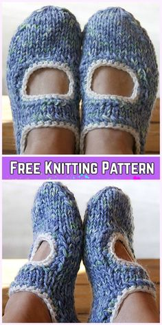 Knit AK's Slippers Free Knitting Pattern for Ladies