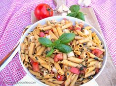 Gluten Free Caprese Pasta Salad is ready to eat in about 15 minutes, no need to turn the oven on, and faster than any take-out you could order.
