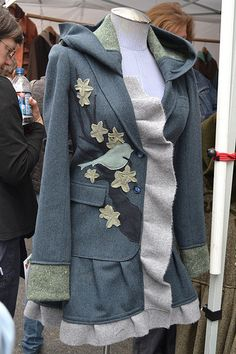 another view of the upcycled coat.