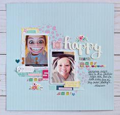 Gossamer Blue | Happy Snaps | creating us Gossamer Blue, Grid, Layouts, Scrapbook, Create, Happy, Fun, Ideas, Scrapbooking
