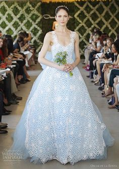oscar de la renta spring 2013 wedding gown