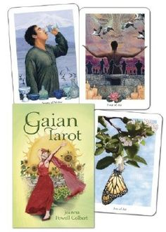 Gaian Tarot Deck published by Llewellyn - Deck by Joanna Powell Colbert (To read a review of this deck at Tarot Wisdom Readings, just click on the imge.)