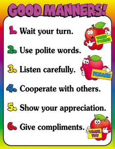 Good Manners! Friendly Chart