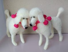 Cute needle felted poodle dog by PerinBaba on Etsy
