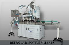 Glass bottle rinser filler and capper :  The complete glass bottle filling line may include includes glass bottle washing; if this is done in-house, or as an independent operation, and at the end of the line, conveyer systems robotic packing in cases, labeling and strapping. All of these products are manufactured by us.For more information please click here http://prodebbrewery.com/beer-glass-bottle-fillers.html#