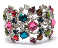 ' ☾☆ Gorgeous Crystal Stretch Bangle' is going up for auction at  9am Sun, Jul 7 with a starting bid of $5.