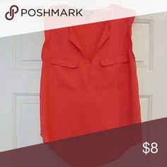 Mossimo coral sleeveless blouse Bright coral. 100% polyester. Mossimo Supply Co Tops Blouses