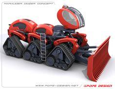 Marauder Dozer Concept by Jon Pope, via Behance