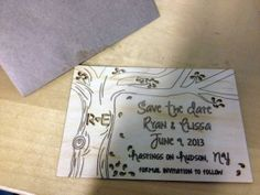 Custom Laser Cut Wedding Place Settings by Surface Grooves LLC | Hatch.co #Personalized #Wedding