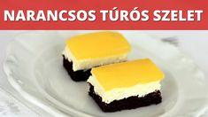 Narancsos túrós szelet, sütemény videó recept