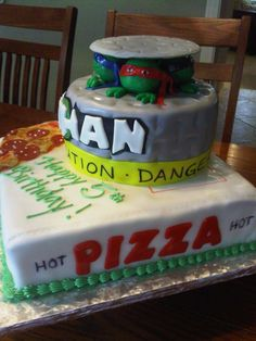 Image detail for -Plumeria Cake Studio: Teenage Mutant Ninja Turtles Birthday Cake
