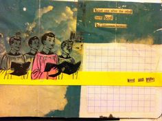 Art journal ideas. Technique inspiration for sketchbooks, scrapbooking or travel journaling.